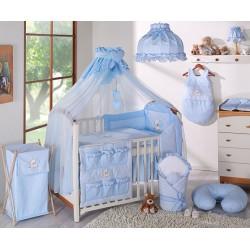 Luxusní mega set s moskytiérou - LOVE modrý