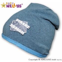 Bavlněná čepička Street Baby Nellys ® - tm.modrý melír