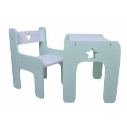 Sada nábytku STAR - Stůl + židle - zelená s bílou