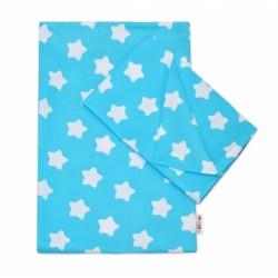 Bavlněné povlečení  140 x 200/70x80 - Sweet Stars - tyrkysová
