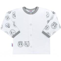 Kojenecký bavlněný kabátek New Baby Emotions, Bílá, 80 (9-12m)