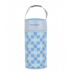 Termobox na kojeneckou láhev - puntíky modré