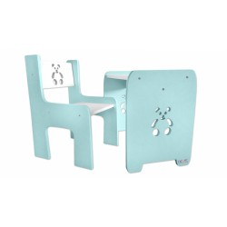 Sada nábytku Teddy - Stůl + židle - máta s bílou