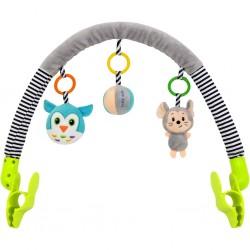 Hračka na kočárek Baby Mix myška, sova, Dle obrázku