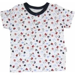 Bavlněné Polo tričko Parník - krátký rukáv
