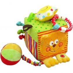 Interaktivní hračka Baby Mix kostka kočička, Dle obrázku