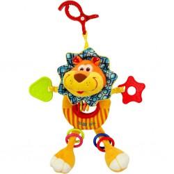 Dětská plyšová hračka s chrastítkem Baby Mix lvíče, Růžová