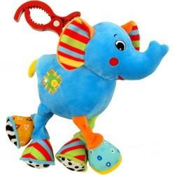 Dětská plyšová hračka s vibrací Baby Mix sloník, Žlutá