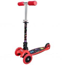 Dětská koloběžka Baby Mix Scooter red, Červená
