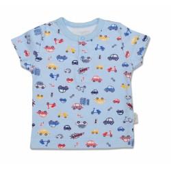 Bavlněné Polo tričko Veselé autíčko - krátký rukáv