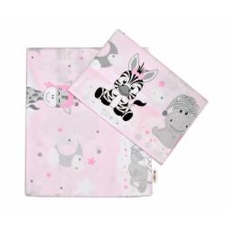 2-dílné bavlněné povlečení Safari Baby - růžové