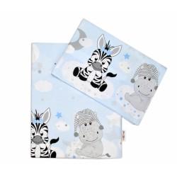 2-dílné bavlněné povlečení Safari Baby - sv. modré