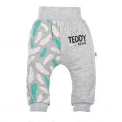 Kojenecké bavlněné tepláčky New Baby Wild Teddy, Šedá, 56 (0-3m)