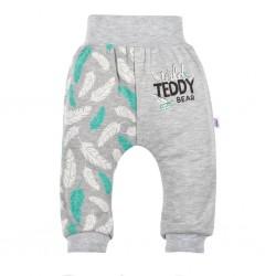 Kojenecké bavlněné tepláčky New Baby Wild Teddy, Šedá, 62 (3-6m)