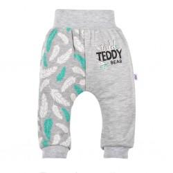 Kojenecké bavlněné tepláčky New Baby Wild Teddy, Šedá, 80 (9-12m)