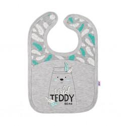 Kojenecký bavlněný bryndáček New Baby Wild Teddy, Šedá