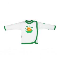Kojenecká bavlněná košilka New Baby Liška zelená, Zelená, 50