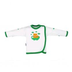 Kojenecká bavlněná košilka New Baby Liška zelená, Zelená, 62 (3-6m)
