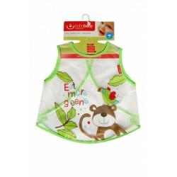 Dětská zástěrka Opička - zelená