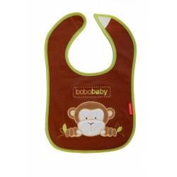 Třívrstvý bavlněný bryndáček Opička - hnědý