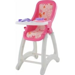 Židlička pro panenky - růžovo/bílá
