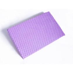 Zvýšená poloha - Klín - minky lila