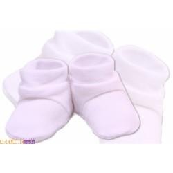 Botičky/ponožtičky VELUR - bílé