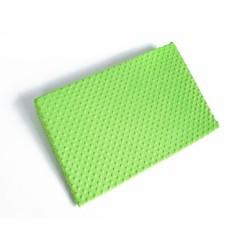 Zvýšená poloha - Klín - minky zelená
