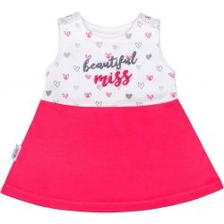 Kojenecké šaty bez rukávů New Baby růžové, Růžová, 74 (6-9m)