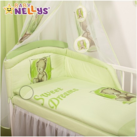Mantinel s povlečením Sweet Dreams by Teddy - zelený