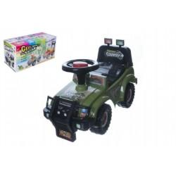 Odrážedlo auto Cross country vojenská khaki zelená 53x48x26cm v krabici od 12 do 35 m