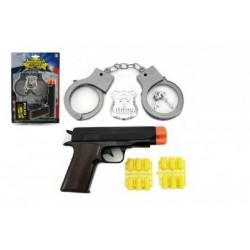 Pistole špuntovka s pouty plast na kartě 19x28x2cm