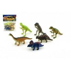 Dinosaurus plast 6ks v sáčku 14x19x3cm