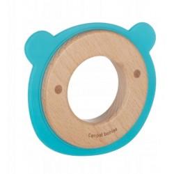 Canpol babies Dřevěné kousátko Medvídek - modré
