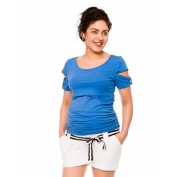 Těhotenské teplákové kraťasy Monika - bílé