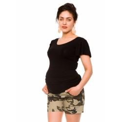 Těhotenské teplákový kraťasy Camo - maskáčové