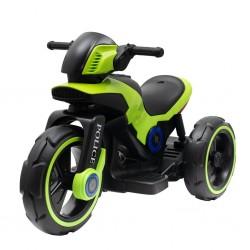 Dětská elektrická motorka Baby Mix POLICE zelená, Zelená