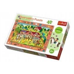 Puzzle &quot,Hledání předmětů&quot, farma 48x34cm 70dílků v krabici 33x23x6cm