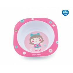 Melaminová miska Toys 230 ml - růžová