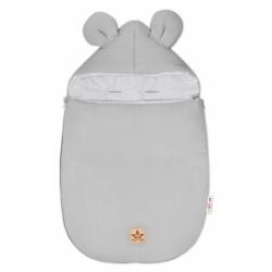Baby Nellys Luxusní lehoučky mušelínový fusak, 90 x 50 cm, šedá