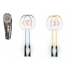 Badminton sada + 3 košíčky Donnay kov 66cm asst 3 barvy v tašce
