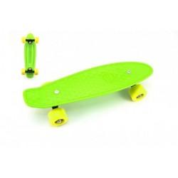 Skateboard - pennyboard 43cm, nosnost 60kg plastové osy, zelená, žlutá kola