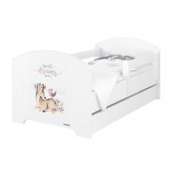 BabyBoo Dětská postel 140 x 70cm -  Sweet Dreams + šuplík
