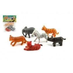Zvířátko safari plast 6ks v sáčku 14x18x3cm