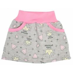 Suknička Little princess - šedo/růžová