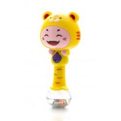 Edukační hračka - chrastítko s melodií - ZODIAK - žlutý