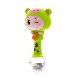 Edukační hračka - chrastítko s melodií - ZODIAK - zelený