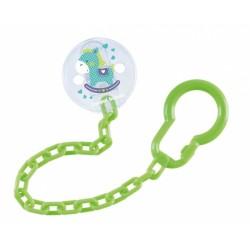 Řetízek na dudlík  Toys - zelený
