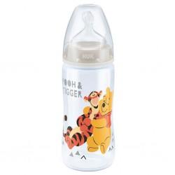 Kojenecká láhev NUK Medvídek Pú 300 ml béžová, Béžová