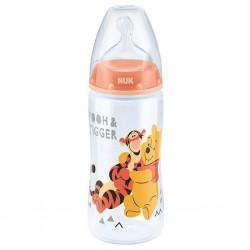Kojenecká láhev NUK Medvídek Pú 300 ml oranžová, Oranžová